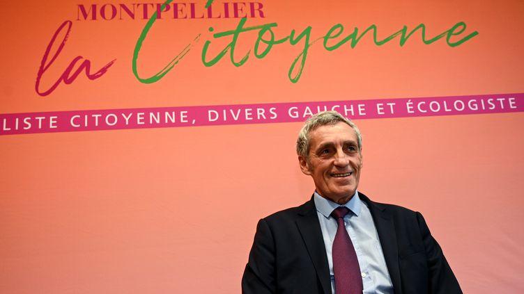 Le maire sortant Philippe Saurel à une conférence de presse, à Montpellier, le 19 février 2020. (PASCAL GUYOT / AFP)