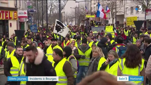 """""""Gilets jaunes"""" : des incidents à Bourges lors de l'acte 9"""