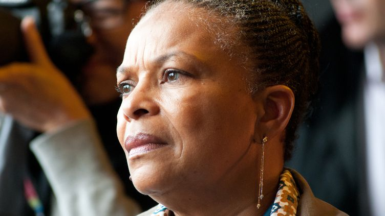 La ministre de la Justice Christiane Taubira au festival Solidays à Paris, le 29 juin 2014. (YANN KORBI / CITIZENSIDE / AFP)
