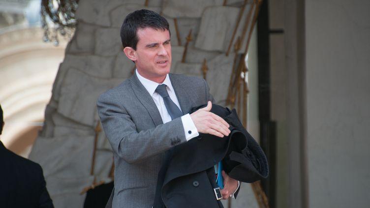 Le Premier ministre, Manuel Valls, le 23 avril 2014 à l'Elysée. (ZAER BELKALAI / CITIZENSIDE.COM / AFP)