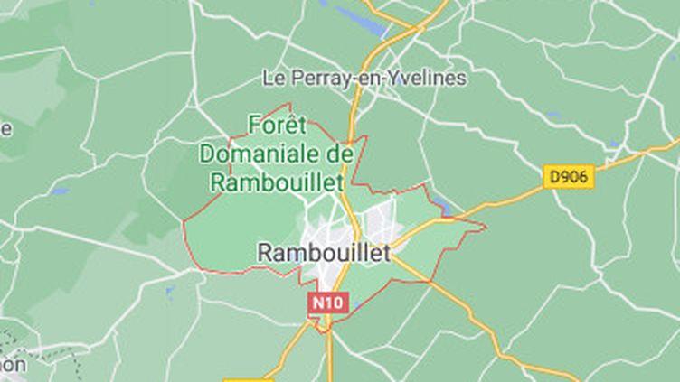 La ville de Rambouillet (Yvelines) sur une carte de Google Maps. (GOOGLE MAPS / FRANCEINFO)