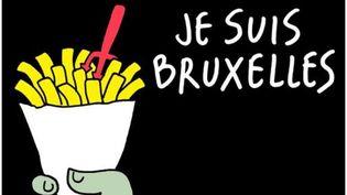 Dessin deMarc De Cloedt, alias MAREC, en hommage aux victimes des attentats de Bruxelles. (MAREC)