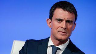 Manuel Valls lors de sa conférencede presse à Matignon le 14 mars 2016. (THIBAULT CAMUS / AP / SIPA)