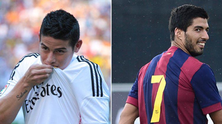 James Rodriguez (Real Madrid) et Luis Suarez (Barcelone) les deux nouvelles stars de la Liga