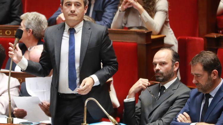 Le ministre des Comptes publics Gérald Darmanin lors de la séance de questions au gouvernement à l'Assemblée, le 26 juillet 2017 à Paris. (JACQUES DEMARTHON / AFP)
