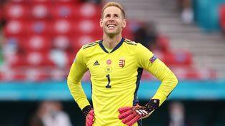Peter Gulacsi, gardien et joueur phare de la Hongrie à l'Euro 2021. (ALEX PANTLING / POOL)
