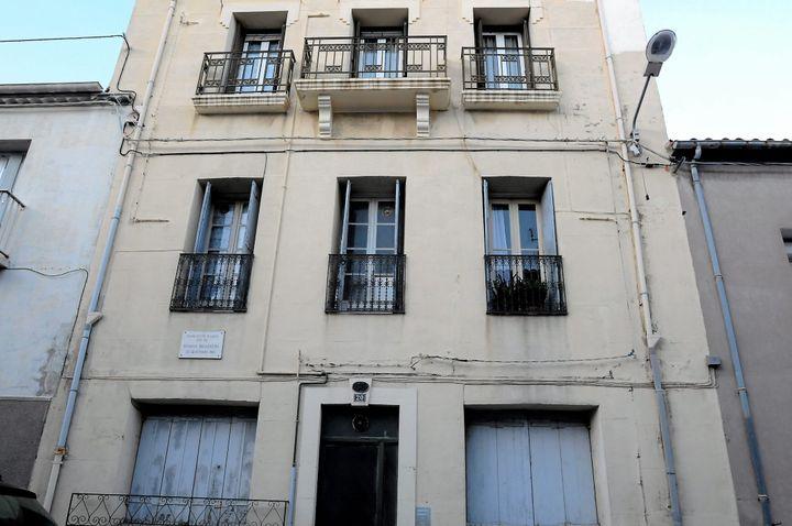 La maison natale de Brassens à Sète. (VINCENT  ANDORRA / MAXPPP)