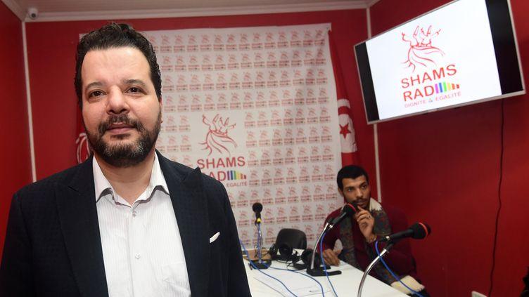 L'avocat tunisien Mounir Baatour, à Tunis (Tunisie), le 18 décembre 2017. (FETHI BELAID / AFP)