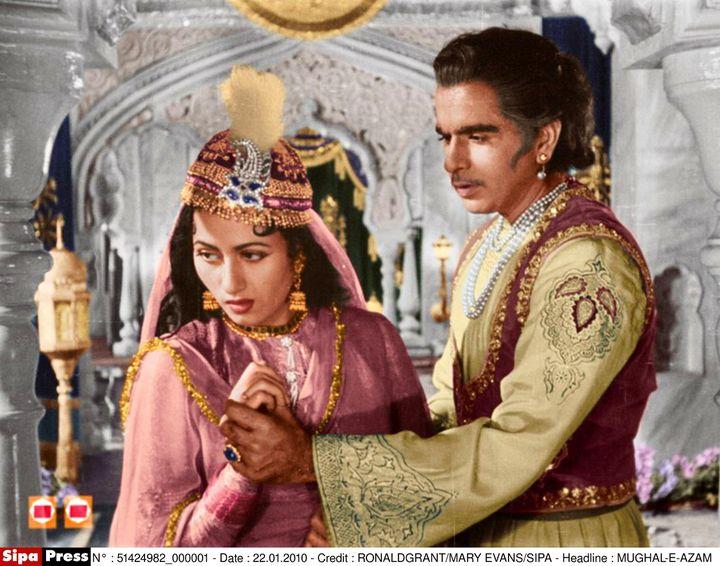 L'acteur indien Dilip Kumar dans le film Mughal -E-Azam en 1960. (RONALD GRANT / MARY EVANS / SIPA)