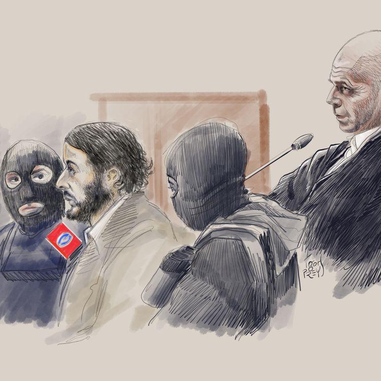 Salah Abdeslam lors de son procès à Bruxelles (Belgique) pour la fusillade de Forest, le 5 février 2018. (IGOR PREYS / BELGA MAG / AFP)