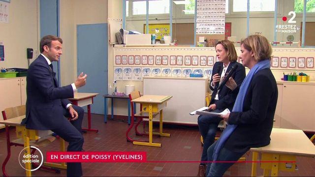"""Déconfinement : """"On ne vous mettra pas en situation de danger"""", assure Emmanuel Macron aux enseignants"""
