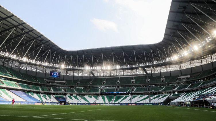 """L'Education City Stadium de Doha,d'une capacité de 40 000 places, est appelé aussi """"joyau du désert"""". Il accueillera plusieurs matchs lors du Mondial 2022. (KARIM JAAFAR / AFP)"""