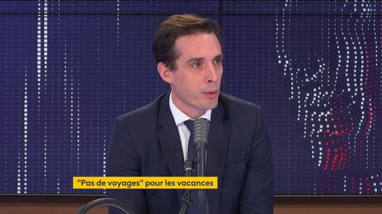"""Jean-Baptiste Djebbari, ministre délégué aux Transports, était l'invité du """"8h30 franceinfo"""" le 25 janvier 2020. (FRANCEINFO / RADIO FRANCE)"""