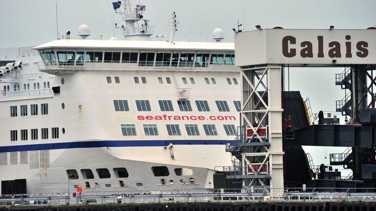 Le projet de coopérative ouvrière est la seule offre en lice pour reprendre SeaFrance qui emploie 880 personnes à Calais (nord). (PHILIPPE HUGUEN / AFP)