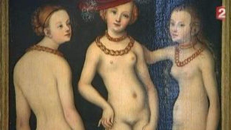 """""""Les Trois Grâces"""" de Cranach enfin exposées au Louvre  (Culturebox)"""