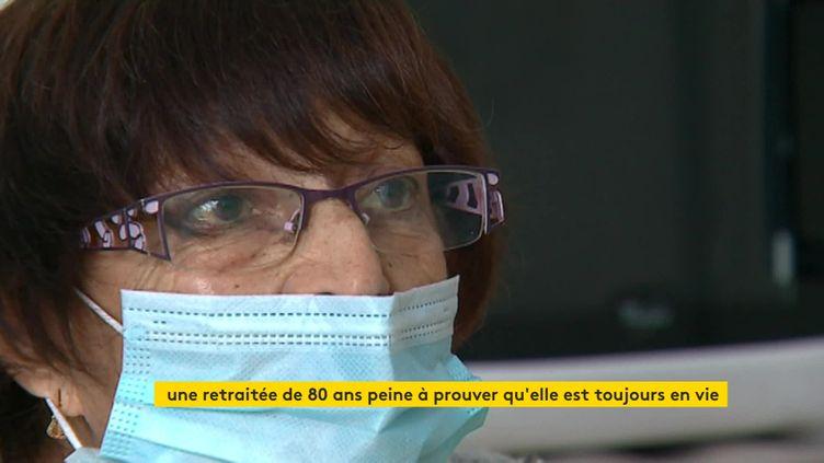 Une octogénaire de Tarare (Rhône) se bat depuis 6 mois contre l'administration pour prouver qu'elle est en vie. (France 3 Rhône-Alpes)