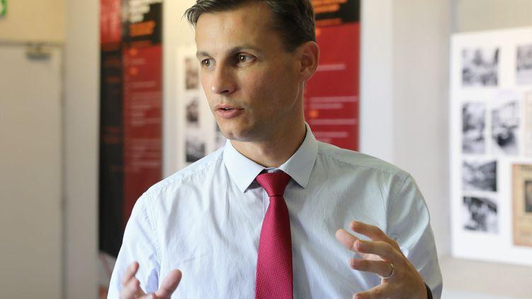 Frédéric Potier, délégué interministériel à la lutte contre le racisme, l'antisémitisme et la haine anti-LGBT, àRomans-sur-Isère dans laDrôme, le 29 août 2019. (ST?PHANE MARC / MAXPPP)