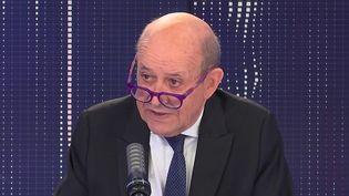 Jean-Yves Le Drian, ministre de l'Europe et des Affaires Etrangères, le 16 septembre 2021 sur franceinfo. (FRANCEINFO / RADIO FRANCE)