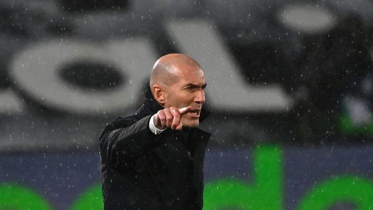 Zinédine Zidane, le 9 février 2021 près de Madrid. (GABRIEL BOUYS / AFP)