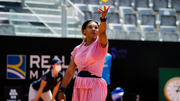 Serena Williams lors du tournoi de Rome le 12 mai 2021.  (ROB PRANGE / SPAIN DPPI)