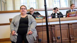 Dominique Cottrez au premier jour de son procès devant la cour d'assises du Nord à Douai, le 25 juin 2015. (MAXPPP)