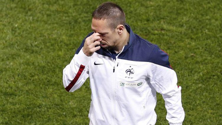 Franck Ribéry soucieux