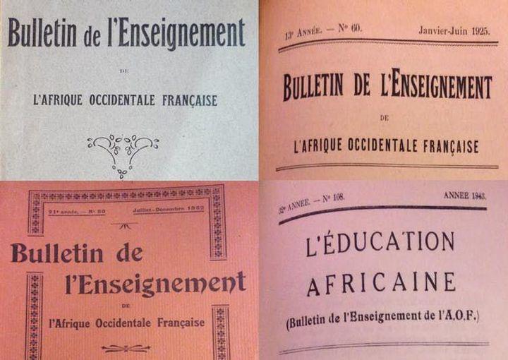 Couvertures du Bulletin de l'Enseignement en AOF/l'Éducation africaine. (Auteurs, Author provided)