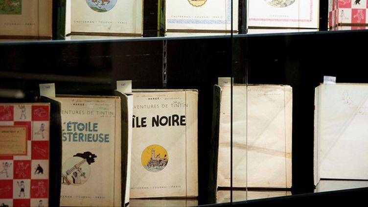 Dessins et planches originales d'Hergé battent des records dans les ventes  (GILLES BASSIGNAC/JDD/SIPA)