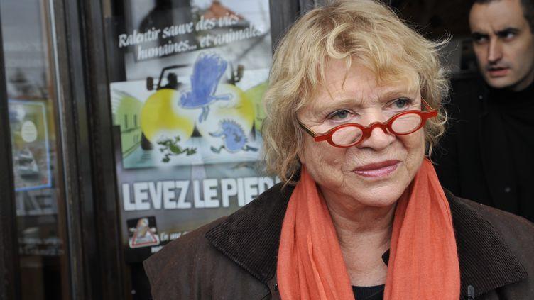 Eva Joly, la candidate d'Europe Ecologie-Les Verts, à Clermont-Ferrand, en Auvergne, le 2 décembre 2011. (THIERRY ZOCCOLAN / AFP)
