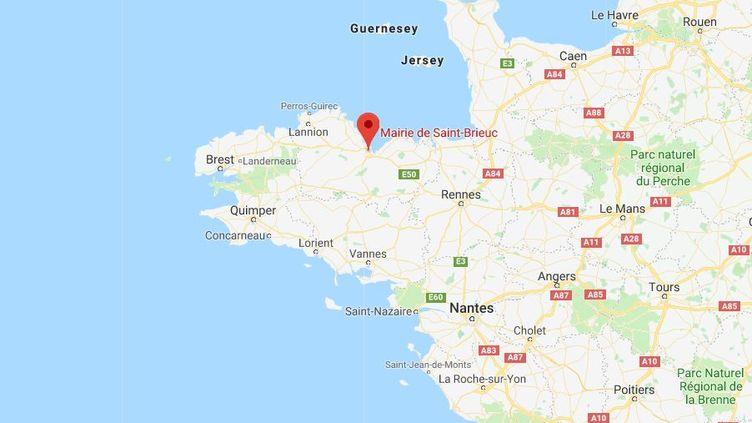 Capture d'écran de la ville de Saint-Brieuc (Côtes-d'Armor), le 10 janvier 2018. (GOOGLE MAPS)