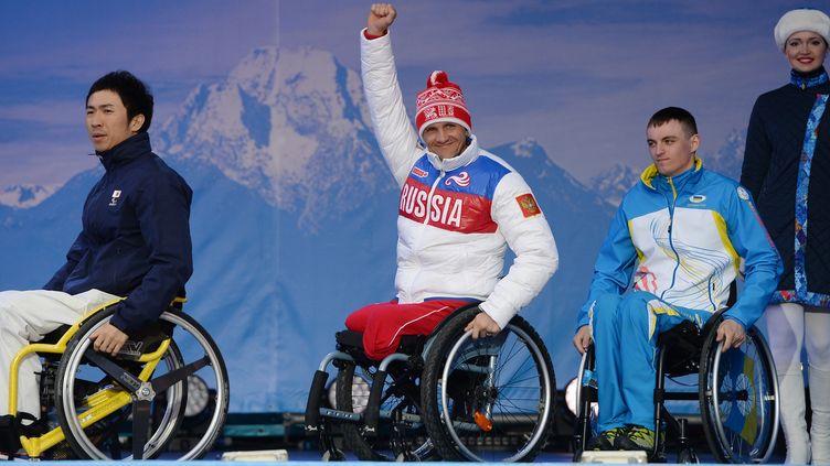 Roman Petushkov, premier médaillé d'or russe en biathlon assis  (ALEXEY FILIPPOV / RIA NOVOSTI)