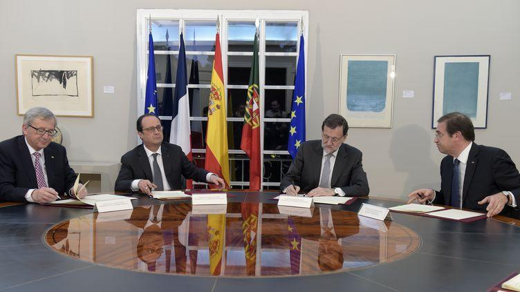 Le président François Hollande, le 4 mars 2015 à Madrid. (GERARD JULIEN / AFP)