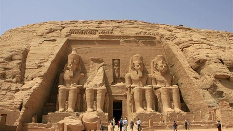 Le temple d'Abou Simbel, dans le sud de l'Egypte, destination très prisée des touristes (24/09/2008) (AFP / Khaled Desouki)