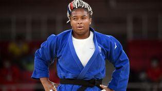 Romane Dicko à Tokyo, le 30 juillet 2021 pour le tournoi olympique. (FRANCK FIFE / AFP)