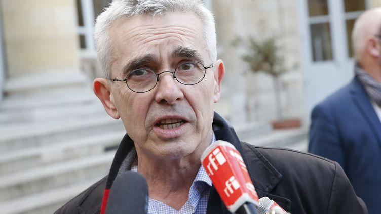 Yves Veyrier en mars 2020. (S?BASTIEN MUYLAERT / MAXPPP)