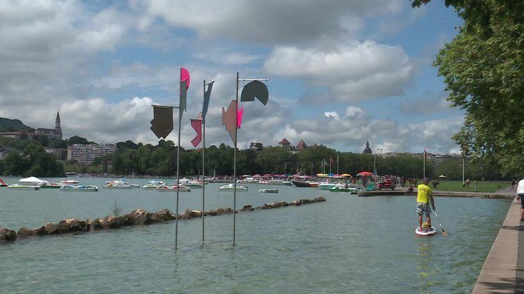 """Une oeuvre d'art du festival """"Annecy paysages"""". (FRANCEINFO)"""