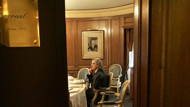 Bernard Pivot chez Drouant  (Joel Robine/AFP)