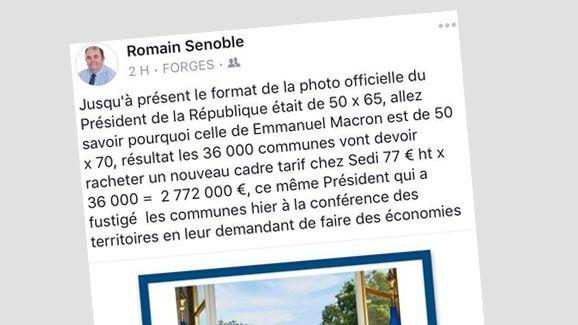 Le message de Romain Senoble sur Facebook. (CAPTURE D'ÉCRAN)