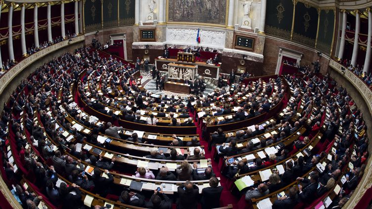 L'Assemblée nationale, à Paris, le 2 octobre 2012. (LIONEL BONAVENTURE / AFP)