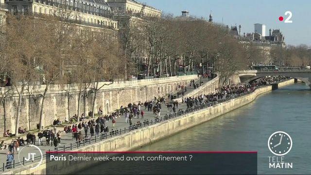 Covid-19 : craignant un confinement imminent, les Parisiens ont investi les quais de Seine