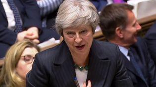 La Première ministre britannique Theresa May, devantla Chambre des communes à Londres, le 15 novembre 2018. (AFP PHOTO / PRU)