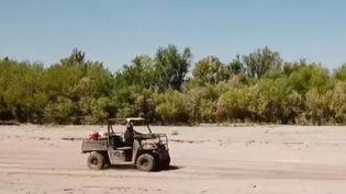 Le Rio Grande est à sec. (Capture d'écran France 2)