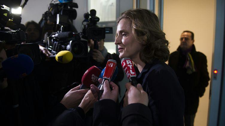Nathalie Kosciusko-Morizet devant le siège des Républicains, à Paris, le 14 décembre 2015. (MARTIN BUREAU / AFP)