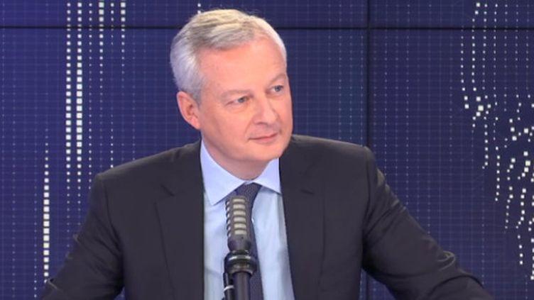 Bruno Le Maire, ministre de l'Economie, des Finances et de la Relance, sur franceinfo lundi 10 mai 2021. (FRANCEINFO / RADIOFRANCE)