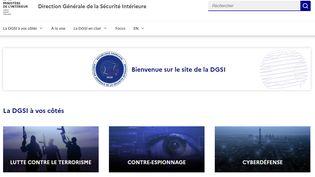 Capture d'écran du site internet de la DGSI, le 6 juillet 2021. (DGSI.INTERIEUR.GOUV.FR)