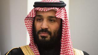 Le prince héritier d'Arabie saoudite, Mohammed ben Salmane, au siège des Nations unies à New York, le 27 mars 2018. (BRYAN R. SMITH / AFP)