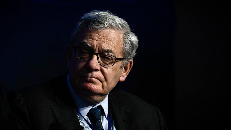 Le président de BNP Paribas, Jean Lemierre, le 10 avril 2018 à Paris. (PHILIPPE LOPEZ / AFP)