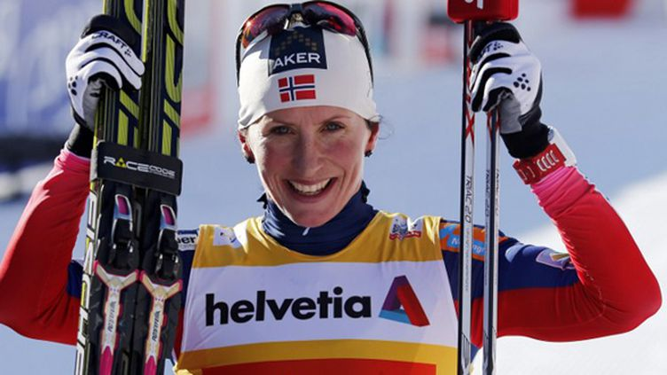 Le bonheur de la Norvégienne Marit Bjoergen