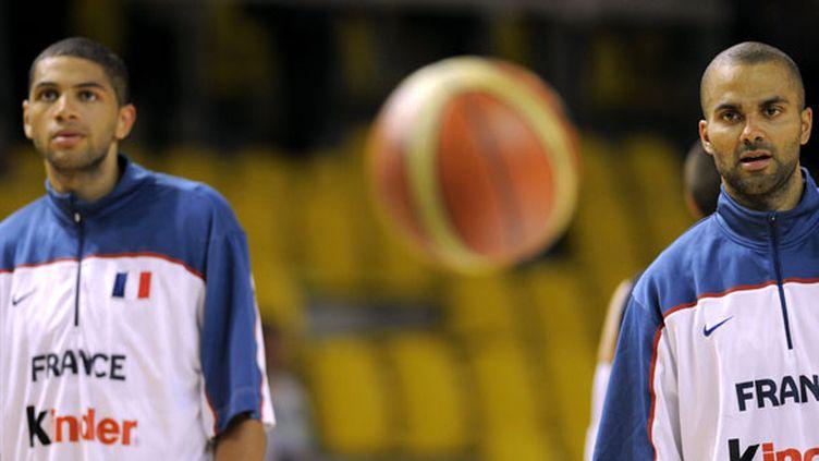 Deux des leaders de l'équipe de France, Tony Parker et Nicolas Batum