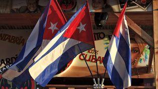 Des drapeaux cubains à La Havane (Cuba), le 6 juin 2011. (STEPHANE FRANCES / ONLY WORLD / AFP)